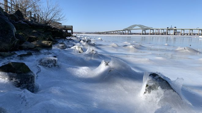 #EBCphotojournalism:  Frozen waves on Newark Bay