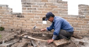 Mules, tools and old bricks: Rebuilding China's Great Wall
