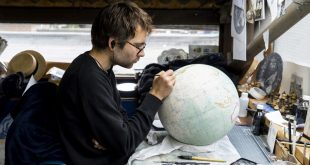 In a London workshop, artisans craft bespoke globes