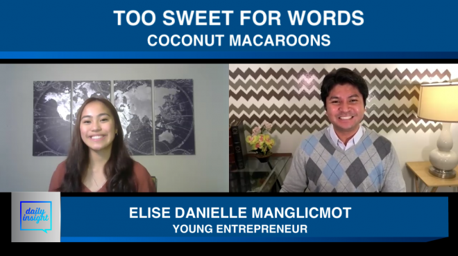 "Daily Insight interviews 17-year-old entrepreneur who started online bakery business ""Too Sweet For Words"""