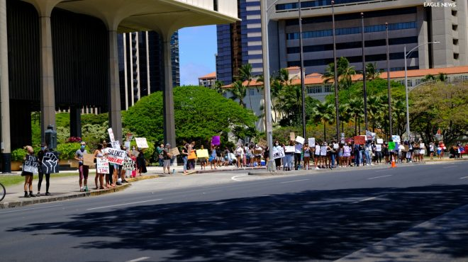 #EBCphotojournalism:  Hawaiians take to the street to protest against racism, inequality