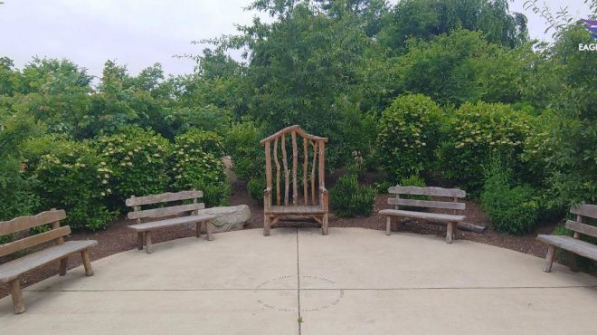 Gaithersburg outdoor garden library invites productivity along with some imagination