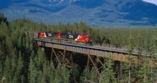 Train traffic restricted in parts of Canada's most western province because of fire risk